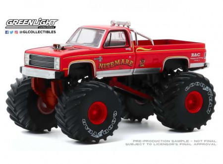 GREENLIGHT 1:64 - CHEVY SILVERADO 1986 MONSTER TRUCK NIGHTMARE II *KINGS OF CRUNCH SERIES 7*, RED