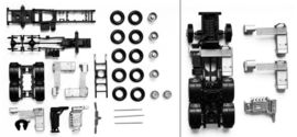 HERPA 1:87 - chassis for tractor MAN TGX/TGS 3-axle Content: 2 pcs.