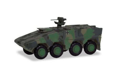 HERPA 1:87 - GTK BOXER TRANSPORT VEHICLE, REDECORATED IN BRONZE GREEN