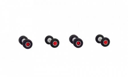 HERPA 1:87 - WHEELSET TRILEX WITH OFFROAD TIRE FOR 2 TRACTORS