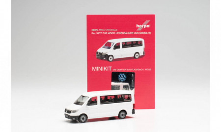 HERPA (MINIKIT) 1:87 - VW Crafter bus low roof, white