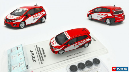 INNO MODELS 1:64 - HONDA JAZZ GK5 2015 #1 *TEAM HONDA RACING INDONESIA* ISSOM WITH SEPARATE DECALS AND WHEELS