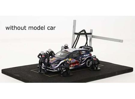 IXO 1:43 - PIT STOP SET 6 FIGURES WITH DECALS AND ACCESSORIES, BLUE