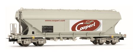 Jouef HO (1:87) - SNCF, flat sided hopper wagon 'Cooperl'