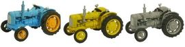 OXFORD 1:76 (00) - Triple Tractor Set  Blue  Yellow Grey