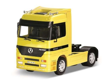 WELLY 1:32 - MERCEDES BENZ ACTROS TRACTOR (4X2), YELLOW