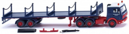 WIKING 1:87 - MERCEDES BENZ 3850 RUNGENSATTELZUG RHEINKRAFT, BLUE/RED