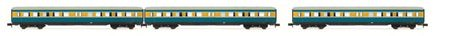 Arnold N (1:160) - Set 'S-Bahn Leipzig'- 3 coaches without dr ivers cab, DR, period IV, livery blue/yell