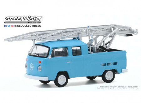 GREENLIGHT 1:64 - VOLKSWAGEN TYPE 2 1973 DOUBLE CAB PICKUP LADDER TRUCK *CLUB VEE-DUB SERIES 11*, BLUE