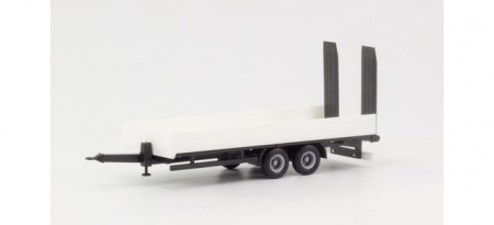 HERPA 1:87 - Deep loading trailer with ramps, white