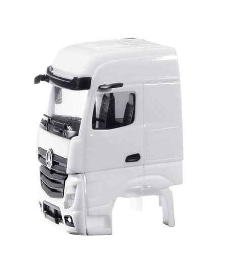 HERPA 1:87 - DRIVER'S CAB MERCEDES-BENZ ACTROS BIGSPACE 2018 WITHOUT SIDE SKIRTING CONTENT: 2 PCS.