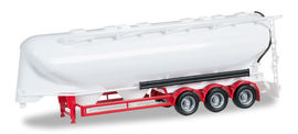 HERPA 1:87 - tank trailer 55m³ 3a, undecorated, red