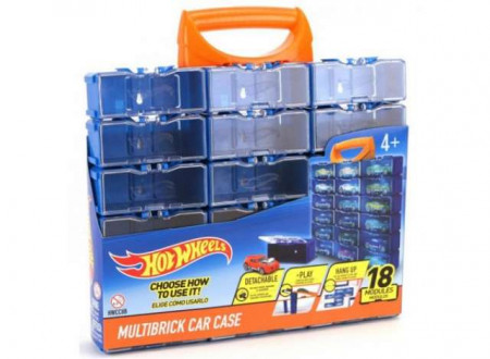 HOTWHEELS 1:64 - HOTWHEELS MULTIBRICK CAR CASE WHICH WILL HOLD 18 CARS