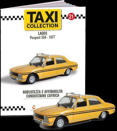 MAGAZINE MODELS 1:43 - PEUGEOT 504 - LAGOS 1977, TAXI OF THE WORLD - CENTAURIA