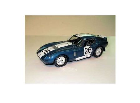 SHELBY COLLECTIBLES 1:64 - SHELBY COBRA 1965 DAYTONA COUPE #26, BLUE/WHITE
