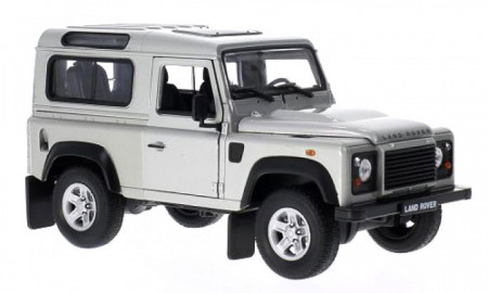 WELLY 1:24 - LAND ROVER DEFENDER 90 1984 SILVER