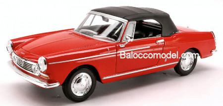 WELLY 1:24 - PEUGEOT 404 SOFT TOP 1963 RED