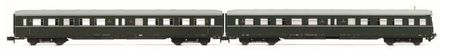 Arnold N (1:160) - 2-unit set coaches (1 with drivers cab) 'L owa E5', DR, period IV a, livery dark gree