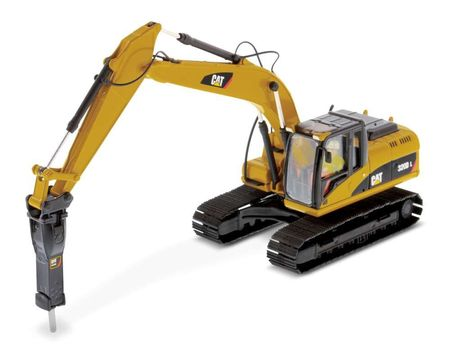 DIECAST MASTERS 1:50 - Cat 320D L Hydraulic Excavator with Hammer