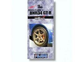 FUJIMI 1:24 - #21 BNR34 SKYLINE GT-R NORMAL 18INCH WHEELS WITH RUBBER TIRES