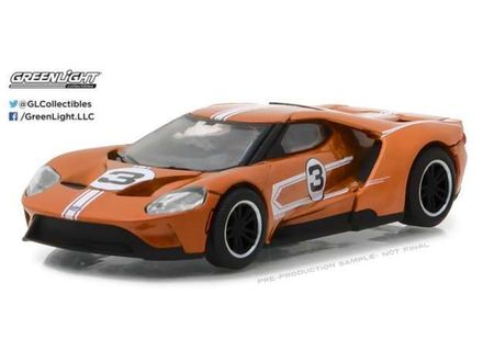 GREENLIGHT 1:64 - FORD GT 2017, 1967 #3 MARIO ANDRETTI FORD GT40 MK. IV TRIBUTE 'FORD GT RACING HERITAGE SERIES 1'
