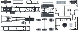 HERPA 1:87 - chassis for tractor MAN TGX Euro 6 with roll-off kinematics Content: 2 pcs.