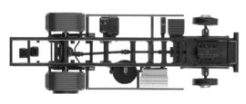 HERPA 1:87 - Chassis Mercedes-Benz Atego LKW 7,5 t for liftgate Content: 2 pcs.