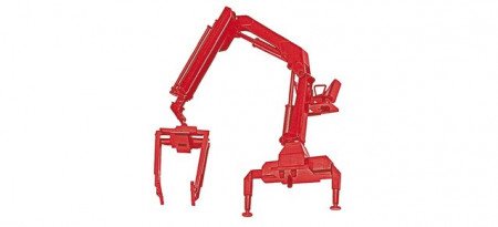 HERPA 1:87 - Hiab Crane with pallette forks, red