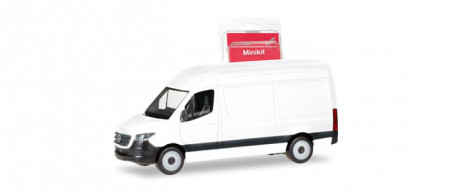 HERPA (MINIKIT) 1:87 - Mercedes-Benz Sprinter `18 box type with high roof, white