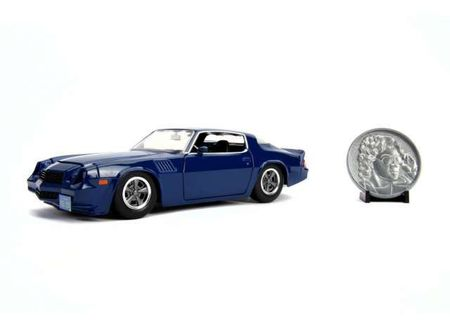 JADA 1:24 - BILLY'S CHEVROLET CAMARO 1979 *STRANGER THINGS* WITH DIECAST STRANGER THINGS COIN *BILLY*