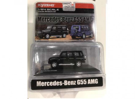 KYOSHO 1:64 - MERCEDES BENZ AMG G55 IN NICE ACRYLIC DISPLAY BOX, BLACK