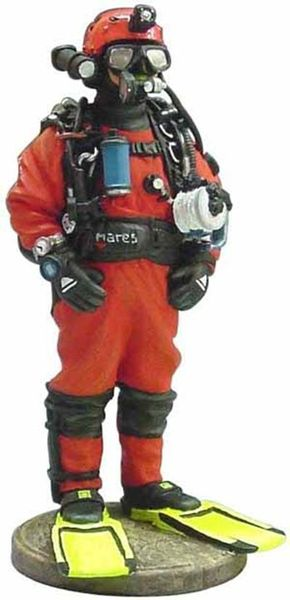 MAGAZINE MODELS 1:32 - FRENCH DIVER FIREMAN NON-FREE WATERS 2002