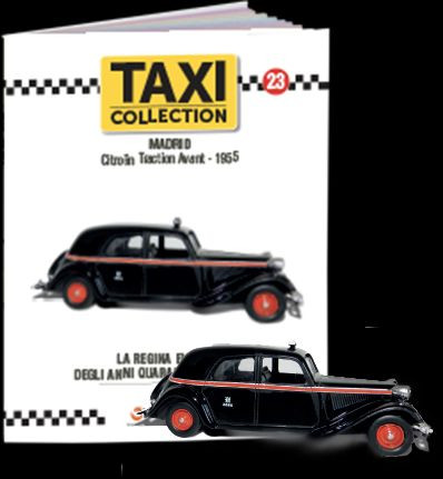 MAGAZINE MODELS 1:43 - CITROEN TRACTION AVANT - MADRID 1955, TAXI OF THE WORLD - CENTAURIA