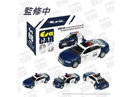 ERA 1:64 - AUDI A6 2008 TAIWAN POLICE #28 (1ST SPECIAL EDITION), BLUE/WHITE