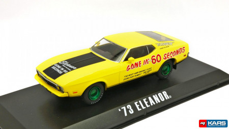 GREENLIGHT 1:43 - FORD MUSTANG MACH 1 1973 ELEANOR *GONE IN SIXTY SECONDS 1974*, YELLOW/BLACK, GREENMACHINE