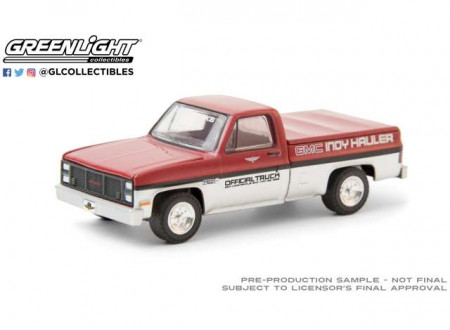 GREENLIGHT 1:64 - GMC HIGH SIERRA 1985 69TH ANNUAL INDIANAPOLIS 500 MILE RACE GMC INDY HAULER OFFICIAL TRUCK, RED/