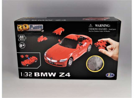 HAPPY WELL 1:32 - BMW Z4 3D PUZZLE 60PCS, RED