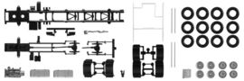 HERPA 1:87 - Chassis Volvo 4-achs LKW with side skirting (Content: 2 pieces)