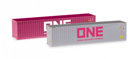 """HERPA 1:87 Container-Set 2x40 ft. """"ONE / ONE"""""""