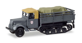 """HERPA 1:87 - Ford 917 T replacement Maultier with load under canvas """"Jagdgeschwader 3 / Udet"""""""