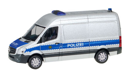 HERPA 1:87 - MERCEDES-BENZ SPRINTER BOX HIGH ROOF 'POLICE DEPARTMENT SAXONY'