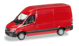HERPA 1:87 - Mercedes-Benz sprinter box with high roof, red