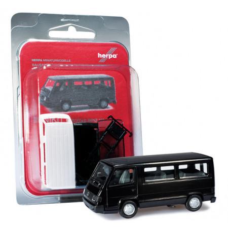 HERPA 1:87 - MiniKit: Mercedes-Benz 100 D bus, deep black