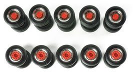 HERPA 1:87 - Special twin tires (chromium / red, 5 sets)