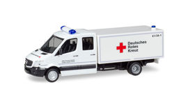 "HERPA1:87 - Mercedes-Benz Sprinter double cabin with box ""DRK Staufen"""
