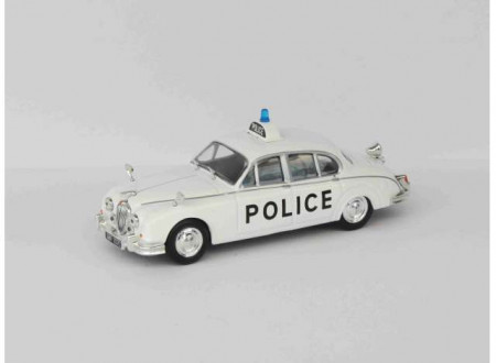 MAGAZINE MODELS 1:43 - JAGUAR MKII *POLICE CARS OF THE WORLD SERIES*, WHITE/BLACK