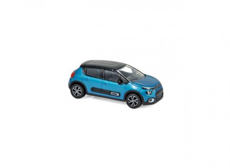 NOREV 1:64 - CITROEN C3 2020, BLUE/BLACK