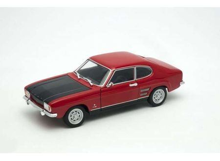 WELLY 1:24 - FORD CAPRI RS 1969, RED WITH BLACK HOOD