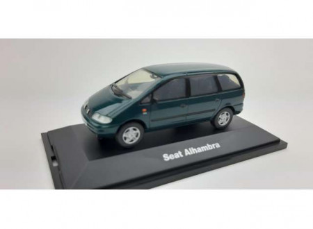 DEALER MODEL 1:43 - SEAT ALHAMBRA I (1996/2010) *IN SEAT DEALER PACKAGING*, GREEN