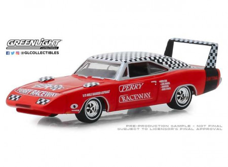 GREENLIGHT 1:64 - DODGE CHARGER DAYTONA 1969 PERRY RACEWAY PACE CAR *HOBBY EXCLUSIVE*, RED/WHITE